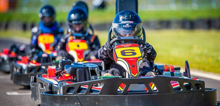 Kids karts on the grid